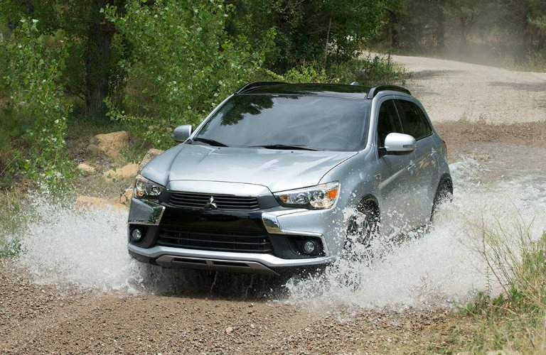 2017 Mitsubishi Outlander Sport running through water