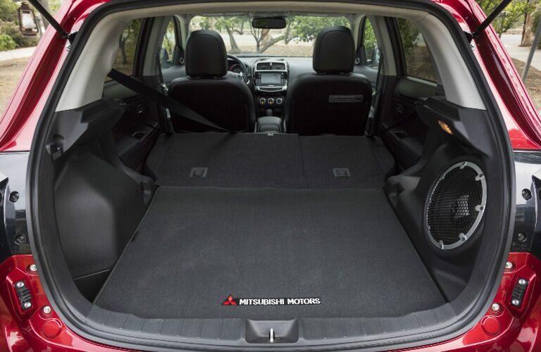 2017 Mitsubishi Outlander Sport cargo area rear seats down
