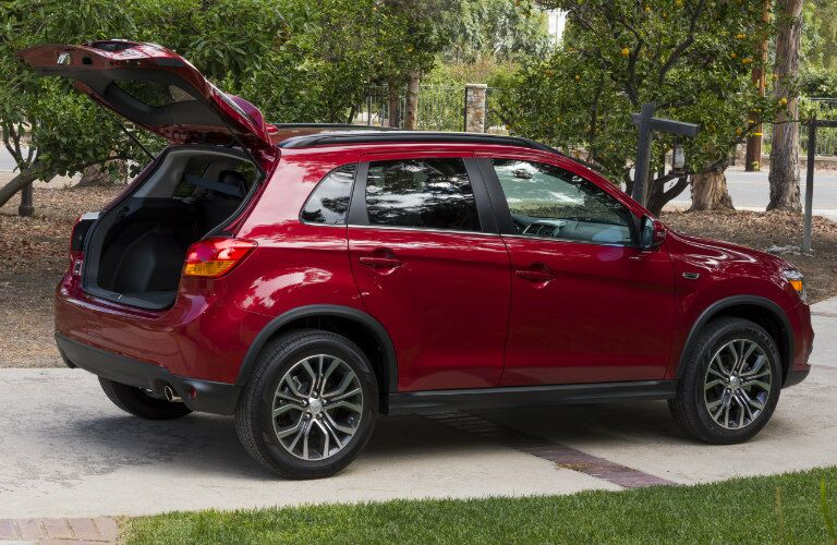 2017 Mitsubishi Outlander Sport with hatch open