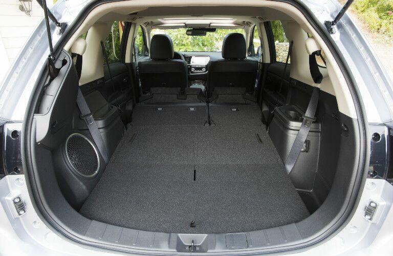 2017 Mitsubishi Outlander rear cargo area seats folded down