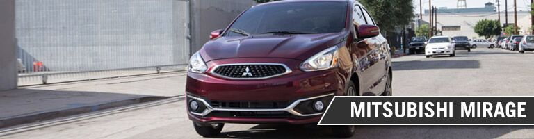 2017 Mitsubishi Mirage driving down the road