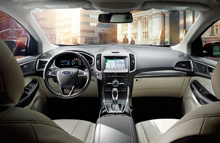 interior of the 2017 Ford Edge
