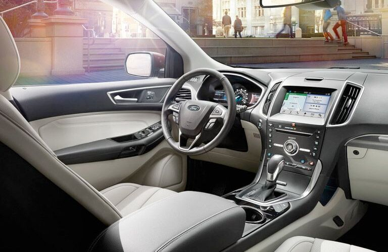front seat and steering wheel of 2017 Ford Edge