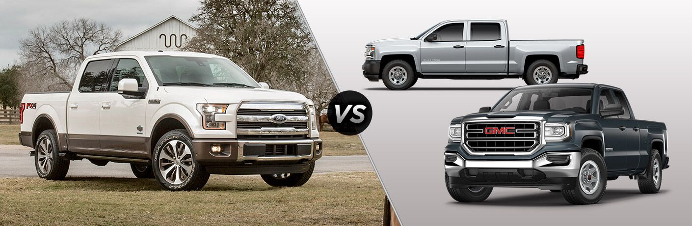 Ford F150 Vs Chevy Silverado >> 2017 Ford F 150 Vs 2017 Gmc Sierra 1500 Vs 2017 Chevy