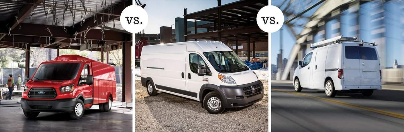 2017 ford transit van vs 2017 ram promaster vs 2017 nissan nv passenger. Black Bedroom Furniture Sets. Home Design Ideas