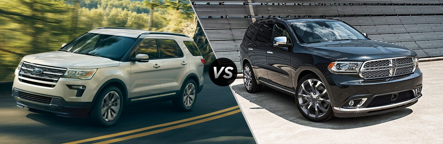 2018 Ford Explorer vs 2018 Dodge Durango Comparison