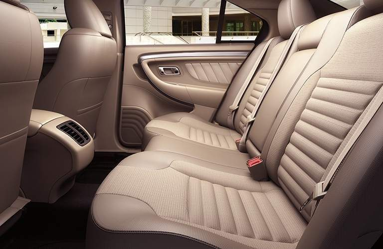 Rear row of seating in 2018 Ford Taurus