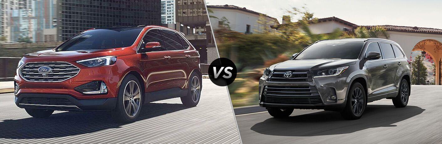2019 Ford Edge vs 2019 Toyota Highlander