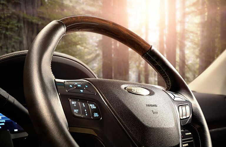 Steering wheel of 2019 Ford Explorer