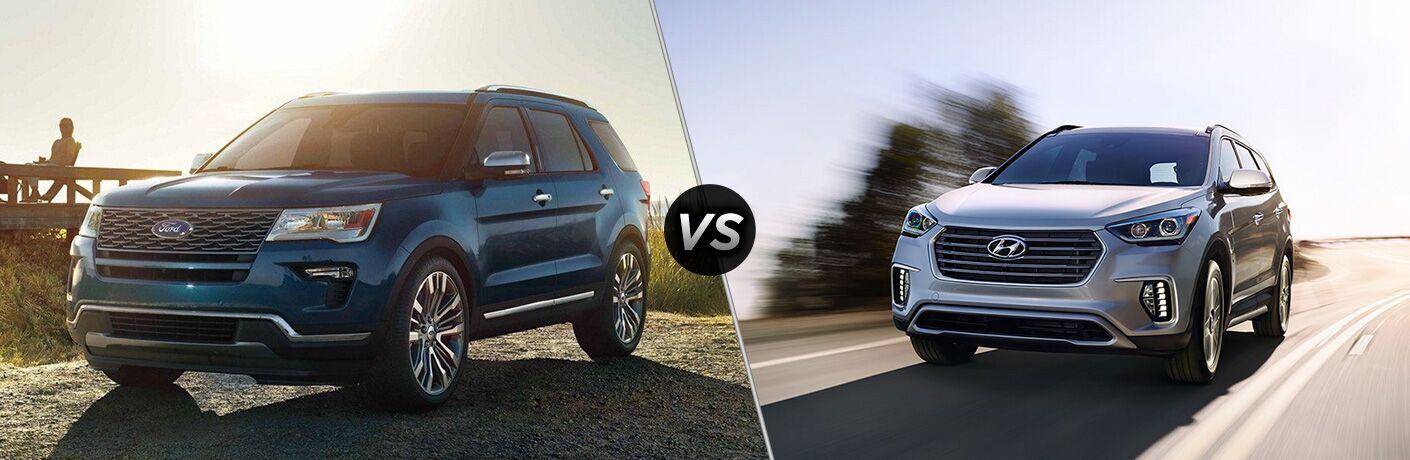 2019 Ford Explorer vs 2019 Hyundai Santa Fe XL