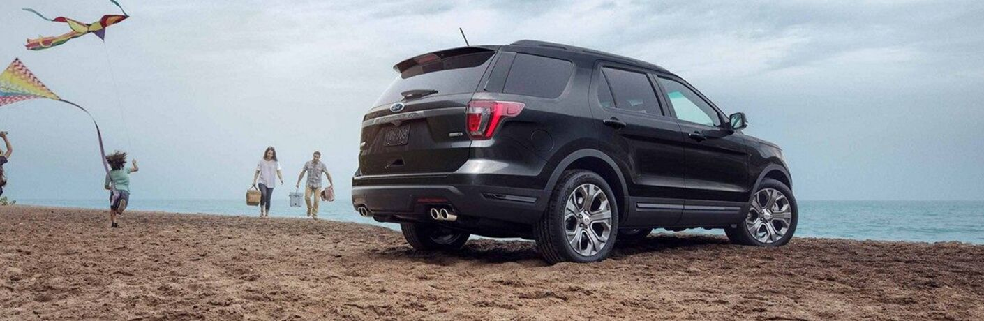 2019 ford explorer parked on beach