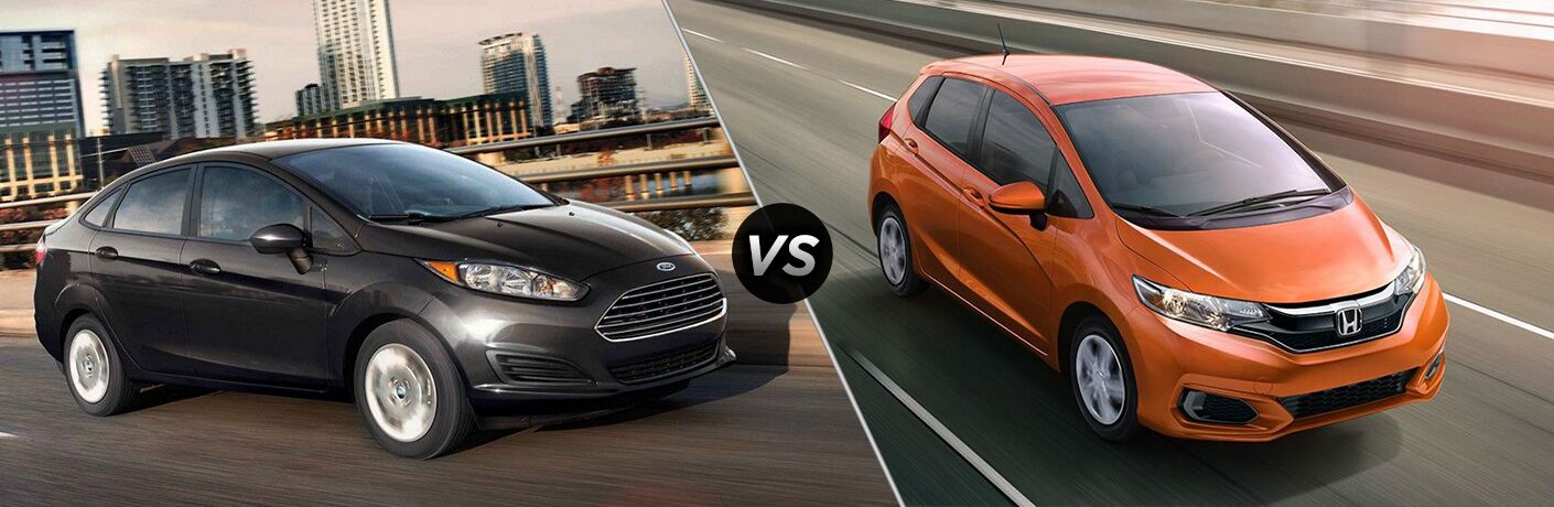 black 2019 ford fiesta vs orange 2019 honda fit