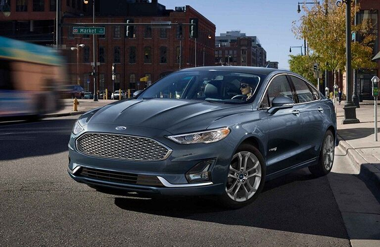 2019 Ford Fusion in blue