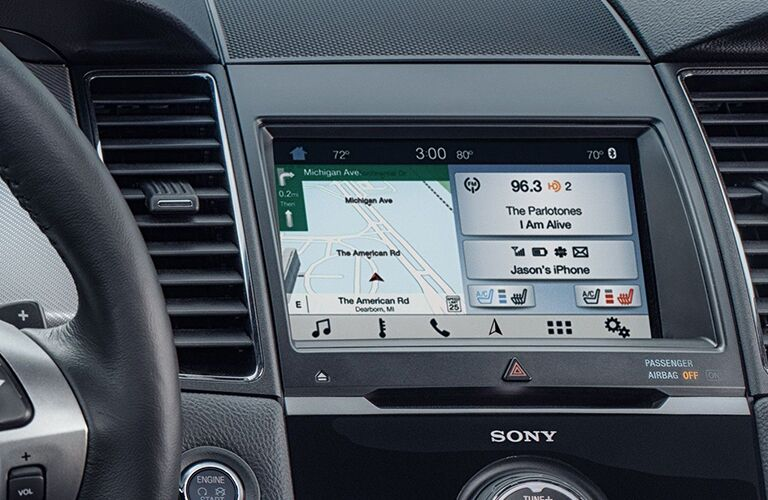 Center touchscreen interface of 2019 Ford Taurus