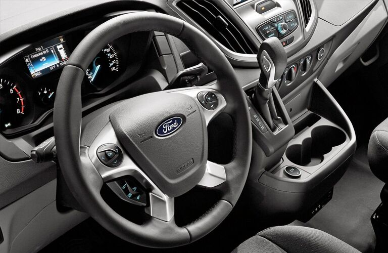 Steering wheel and gear shifter of 2019 Ford Transit Connect Cargo Van