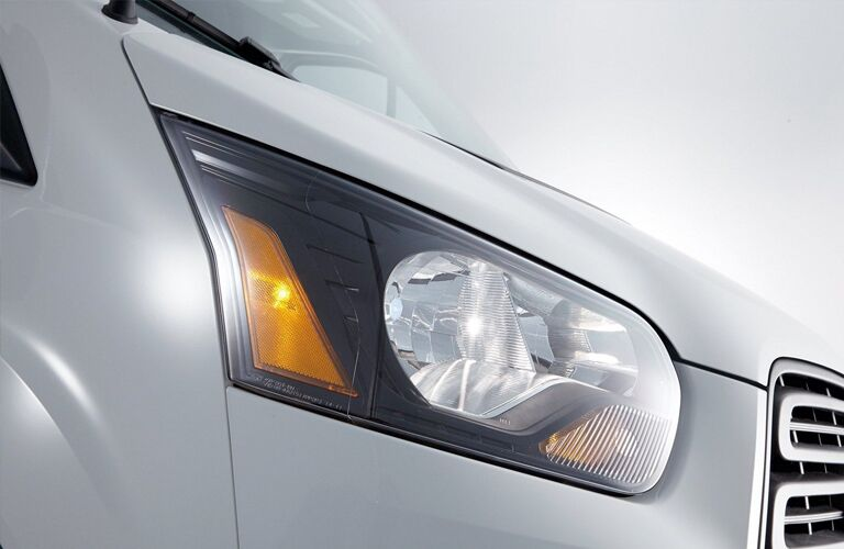 Passenger side headlight of 2019 Ford Transit Connect Van