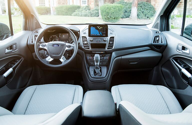 Steering wheel and dashboard of 2019 Ford Transit Connect