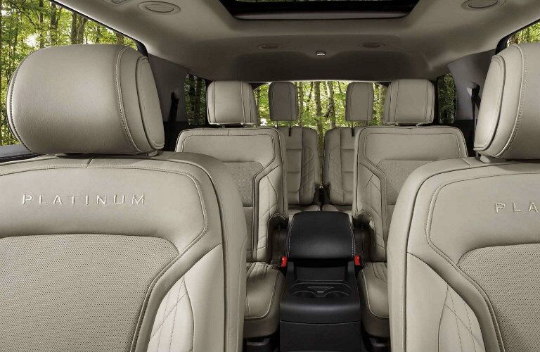 Interior seating volume of 2019 Ford Explorer Platinum trim