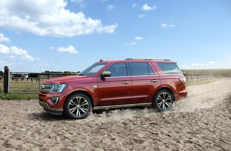 2020 Ford Expedition King Ranch on dirt path