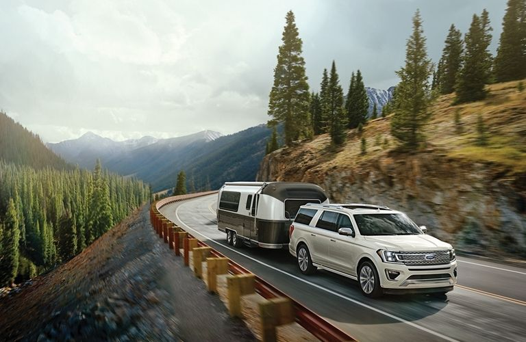 2020 Ford Expedition towing a camper
