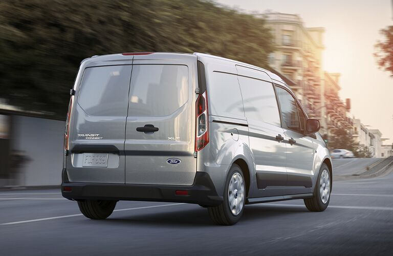 2020 Ford Transit Connect exterior back fascia passenger side in blurred city