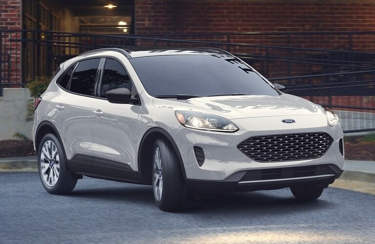 The front view of a light gray 2020 Ford Escape.