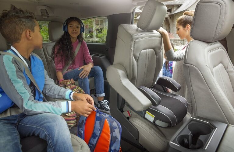 2020 Ford Explorer with little people inside