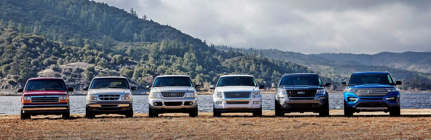 Ford Explorer lineup from past to present