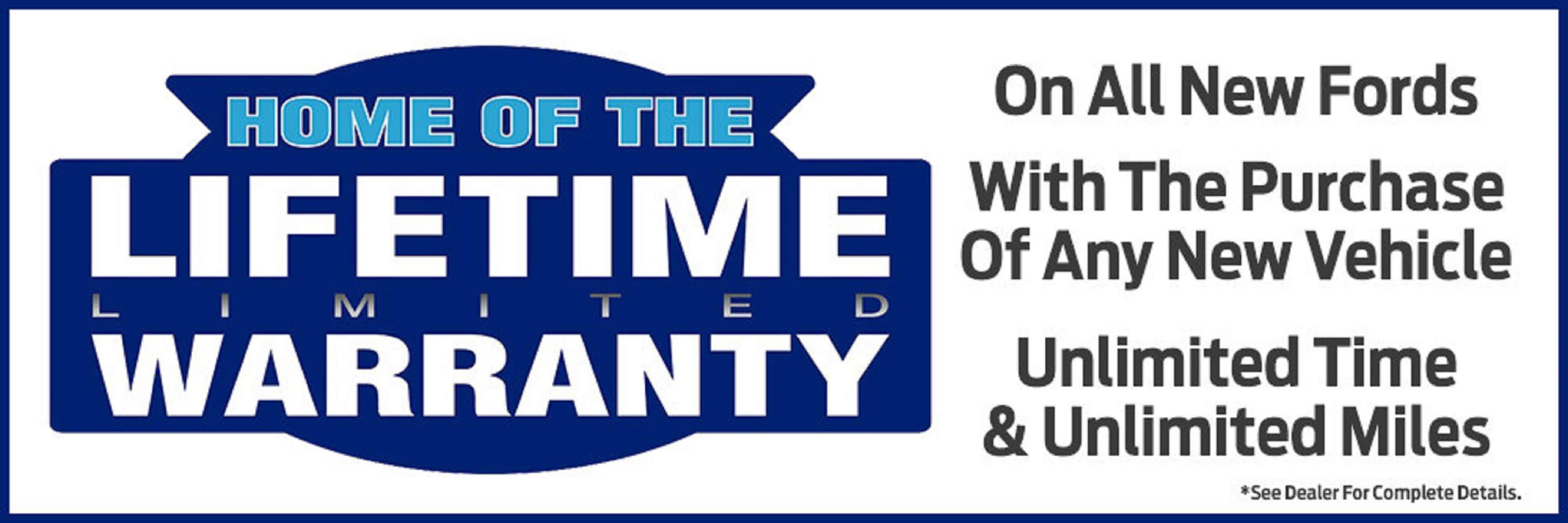 Lifetime Warranty at Kovatch Ford