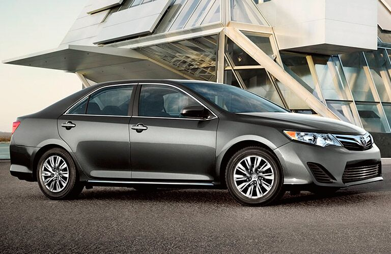 side view of a grey 2014 Toyota Camry