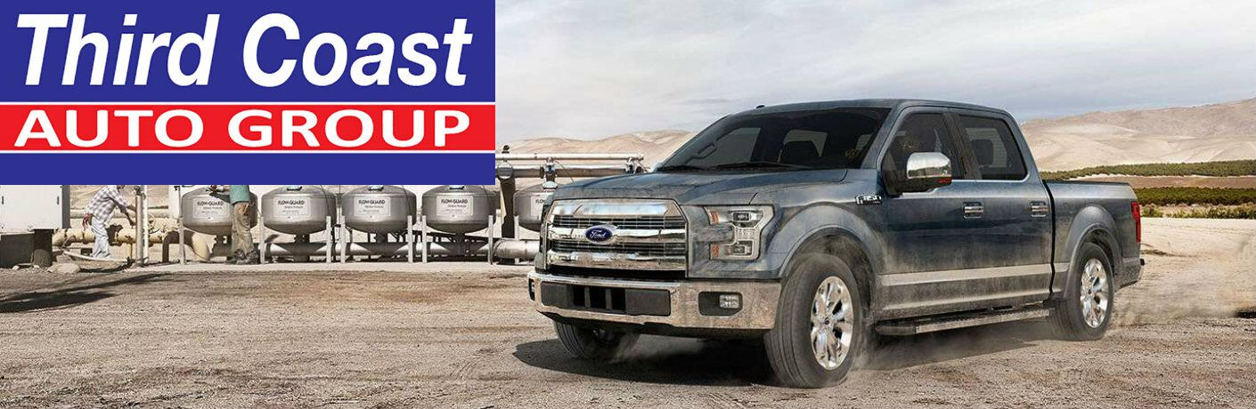 2015 Ford F-150 and the Third Coast Auto Group logo