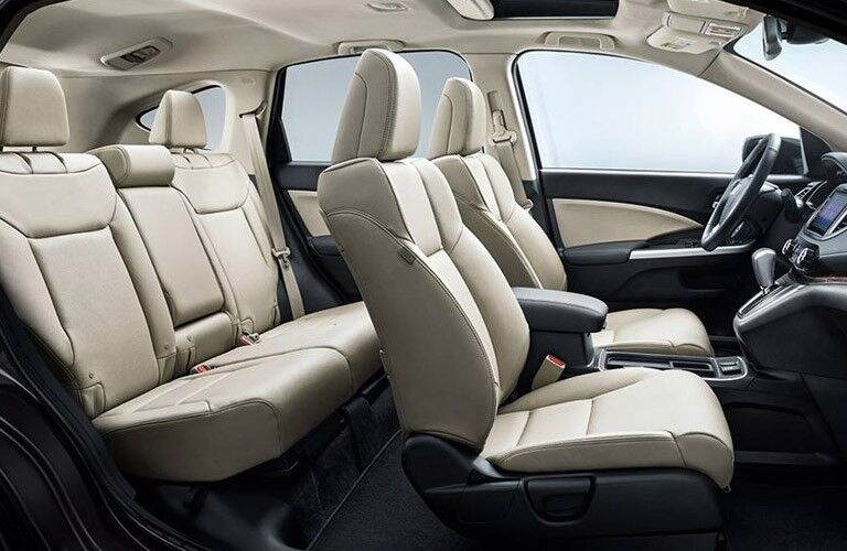 2016 Honda CR-V interior passenger side view of front and rear seats