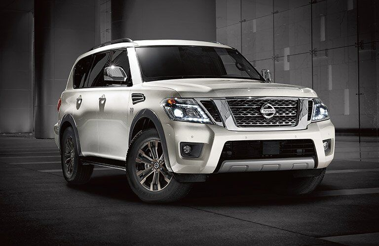 2017 Nissan Armada seen from the front