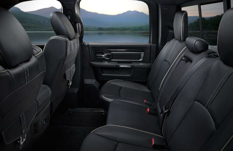 Spacious back row in a 2018 RAM 1500.