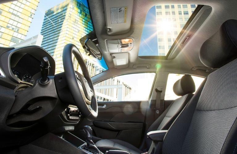 2021 Hyundai Accent interior view
