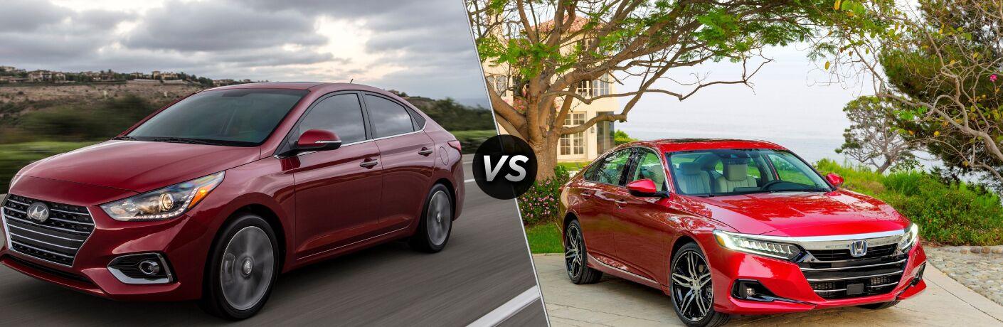 2021 Hyundai Accent vs 2021 Honda Accord