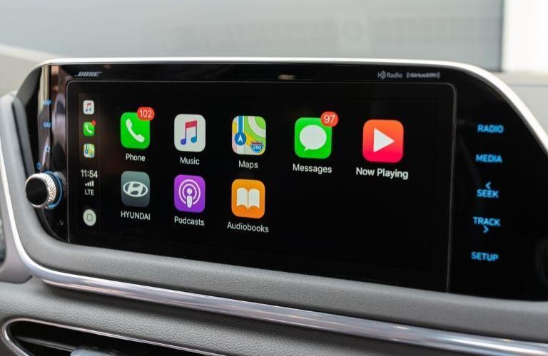 2021 Hyundai Sonata touchscreen display