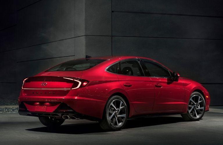 2021 Hyundai Sonata rear quarter view