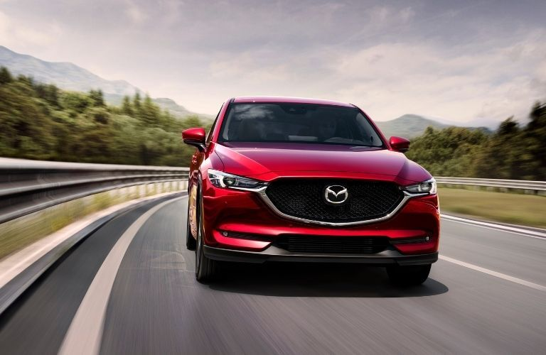 A 2021 Mazda CX-5 on the road
