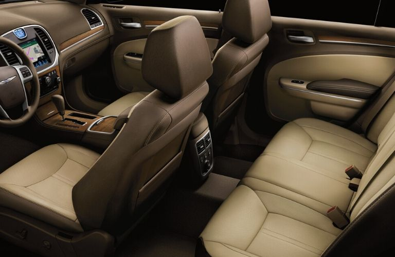 Interior back and front seats of 2013 Chrysler 300