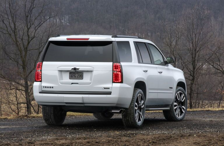 A rear photo of a used GMC Tahoe.