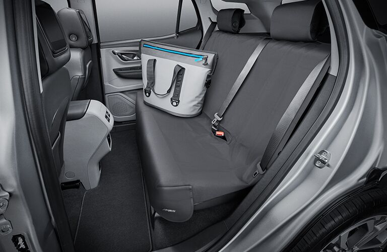 A photo of the rear seats in a used GMC Terrain.
