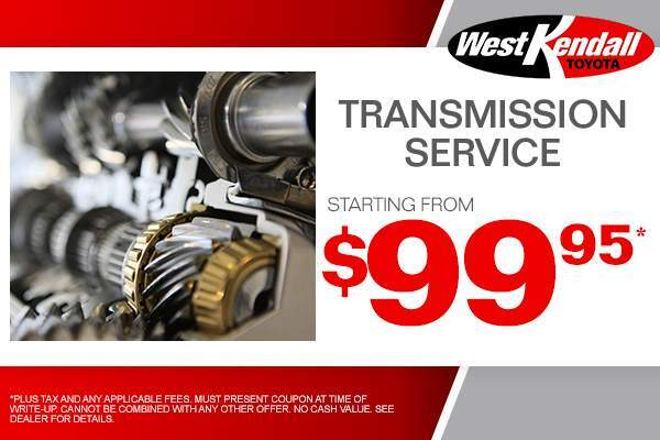Service Specials Amp Coupons West Kendall Toyota Serving