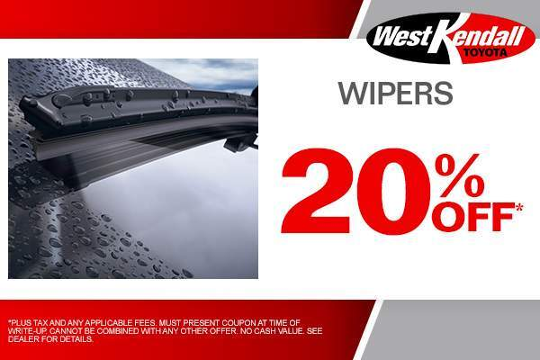Save 20% Off Wipers. Only At West Kendall Toyota ...