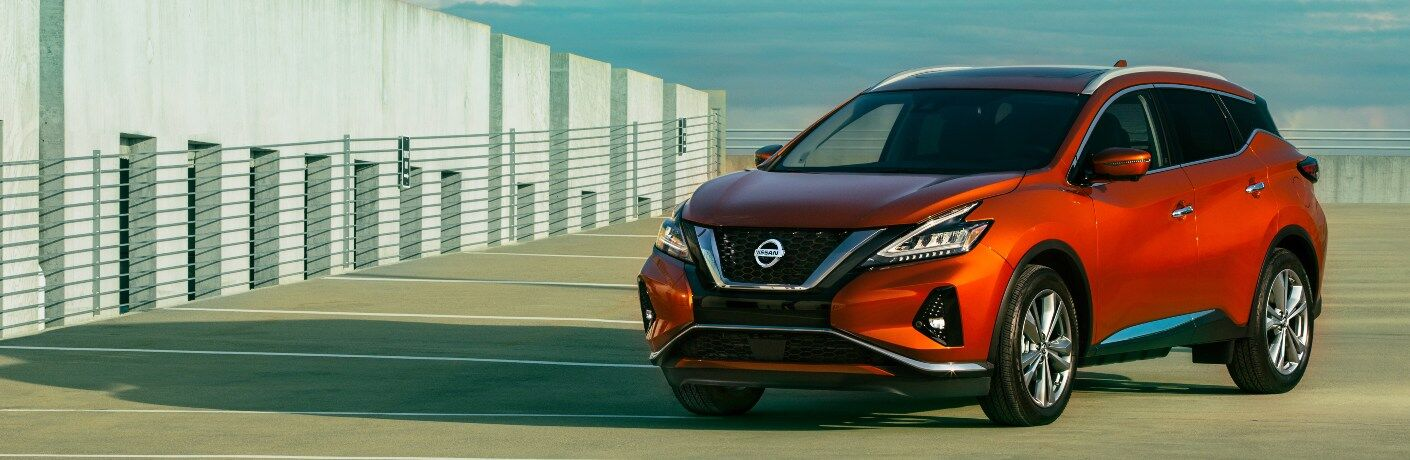 2021 Nissan Murano parked with blue skies