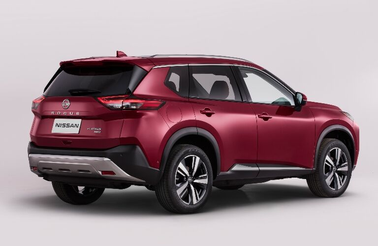 Back end of the 2021 Nissan Rogue