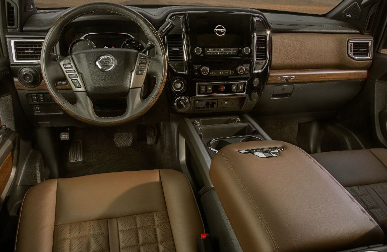 Behind the wheel of the 2021 Nissan TITAN
