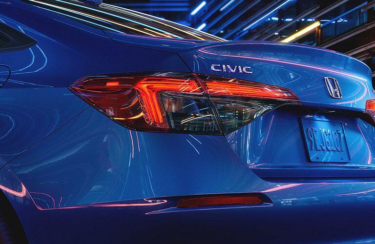 2022 Honda Civic Sedan back end