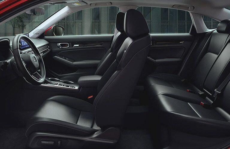 2022 Honda Civic sedan front and back seats