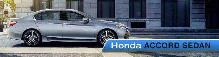 2017 Honda Accord Sedan from the side with a title